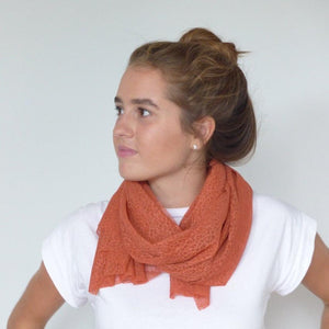Chanty Lace Scarf | Spidery Webs | Mars Red | One Size