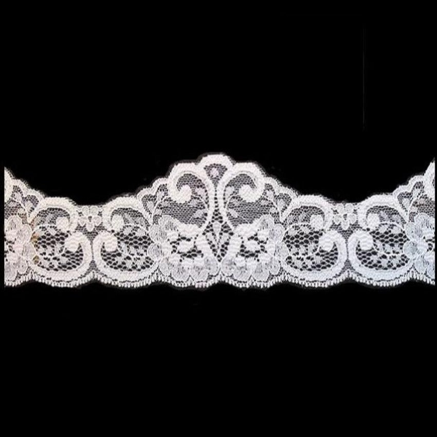 Lace Galloon - Width 5 cm | 56107 | Champagne / Ivory | Cut