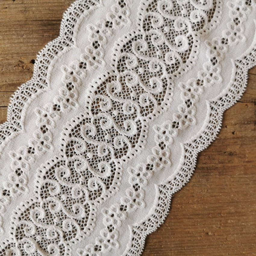 Recycled | Galloon Lace Elastic - Width 16 cm | 60592