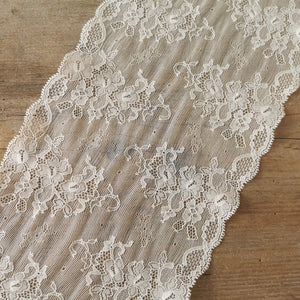 Recycled | Leavers Optic | Galloon Lace Elastic - width 17 cm | 65701