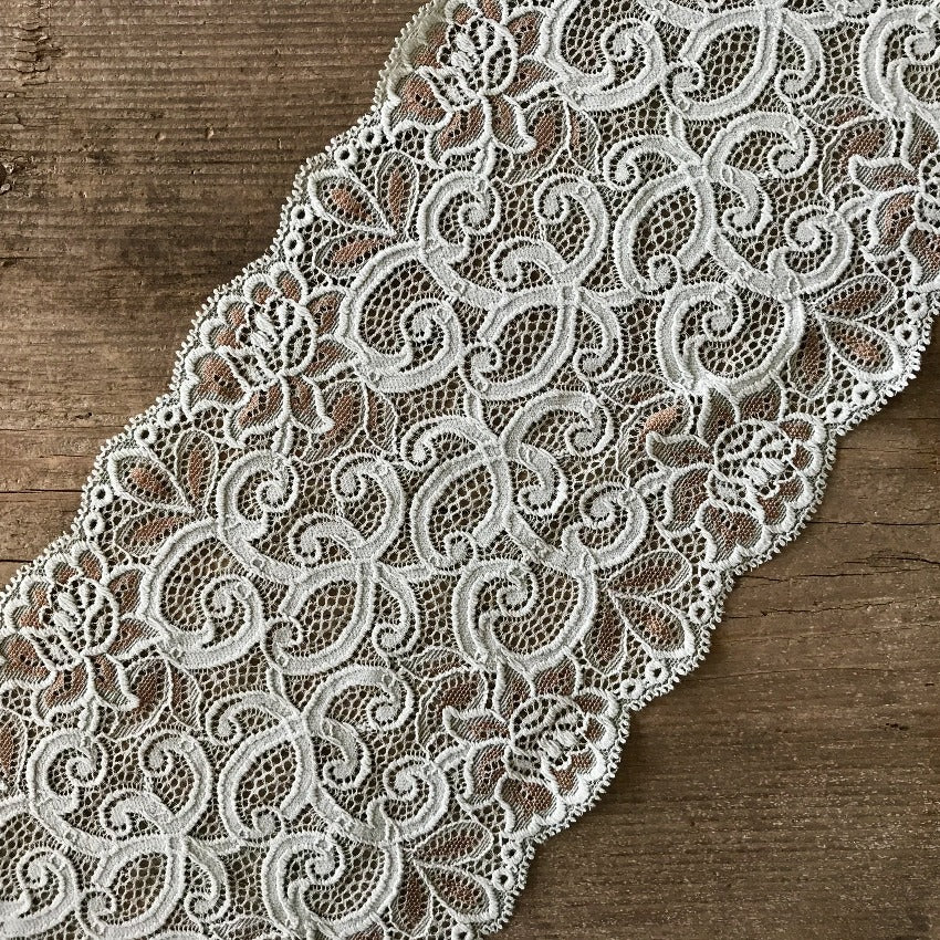Recycled | Galloon Lace Elastic - width 16 cm | 66048
