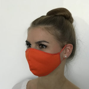 Maske | Oval Slim | Orange | 2-Lagig | Comfy Cotton