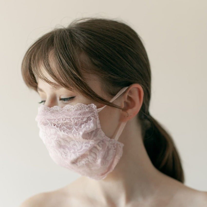 Maske | Closed Vines | Rose | 2-Lagig | One Size