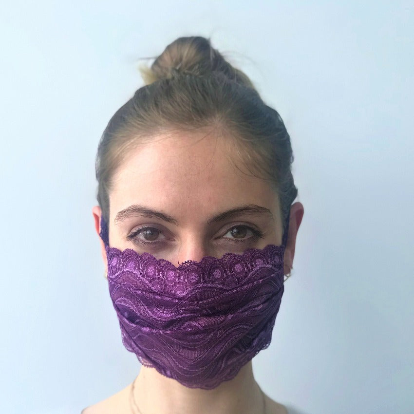 Maske | Waves | Purple | 2-Lagig | One Size