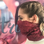 Loop Scarf | Vines & Leaves | Bordeaux | One Size