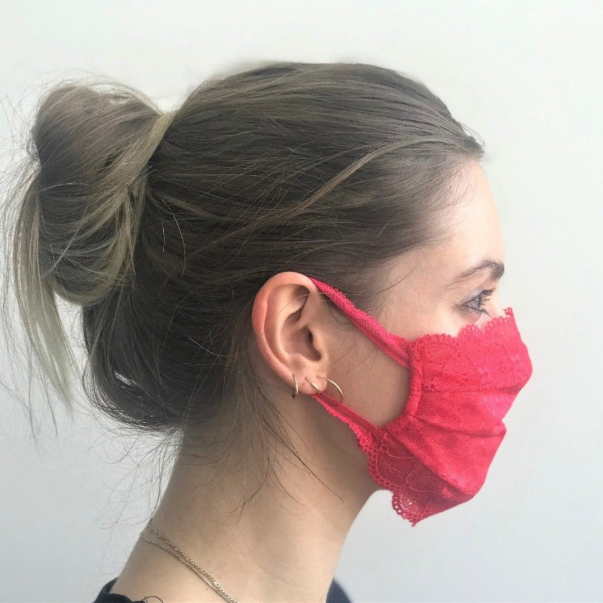 Maske | Summer Kiss | Cherry Red | 2-Lagig | One Size