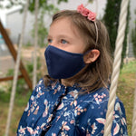 Maske | Oval | Night Blue | Kids 6-9 | 2-Lagig | Soft Cotton