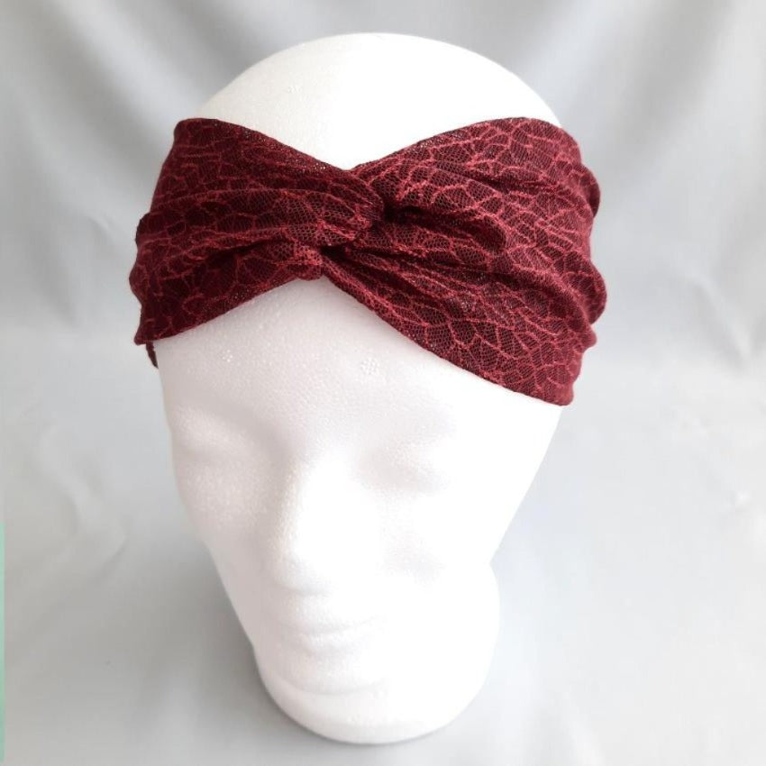 Headband | Dainty Cobwebs | Bordeaux