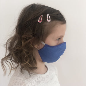 Maske | Oval | Blue | Kids 6-9 | 2-Lagig | Soft Cotton