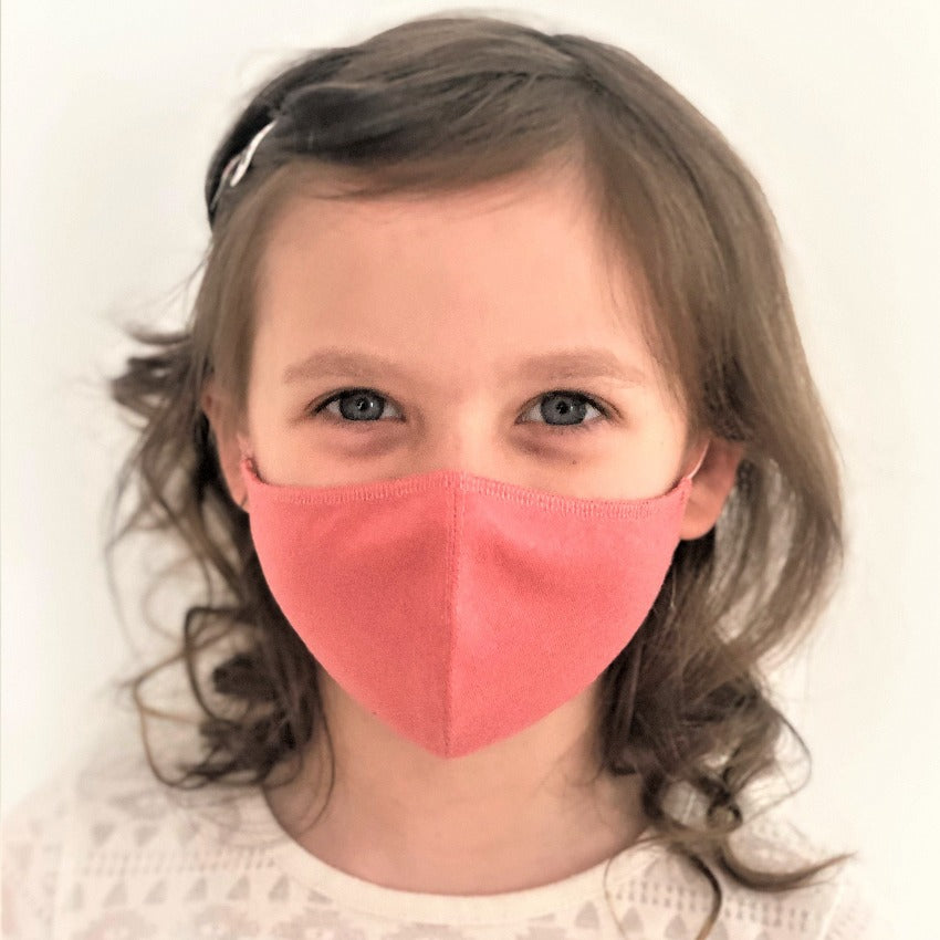 Maske | Oval | Rose | Kids 6-9 | 2-Lagig | Soft Cotton