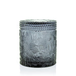 Marigny Jar with Matching Glass Lid - Black Frost
