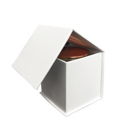 White Plain Flip Top Candle Box -White