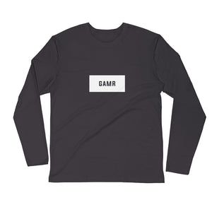 GAMR Men's Long Sleeve Brand T-Shirt (Grey)
