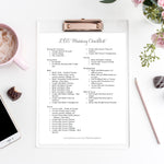 LDS Wedding Photography Checklist | Freebie