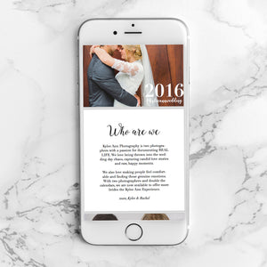 20-Page Wedding and 20-Page Family Pricing Guide Template (InDesign)