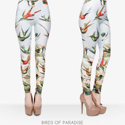 Birds of Paradise leggings - Cool Printed Leggings