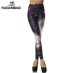 Black White Galaxy leggings - Cool Printed Leggings