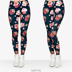 Muffins leggings - Cool Printed Leggings