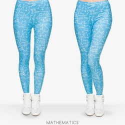 Mathematics leggings - Cool Printed Leggings