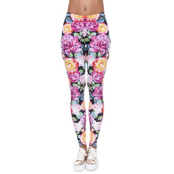 Pink Floral leggings - Cool Printed Leggings