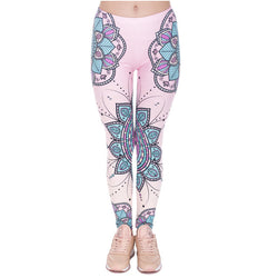 Pink Mandala Flower leggings - Cool Printed Leggings