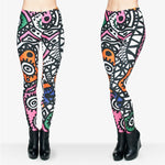 Abstract Vibes leggings - Cool Printed Leggings