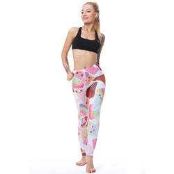 Happy Ice Cream leggings - Cool Printed Leggings