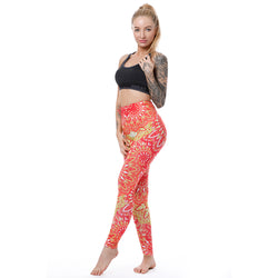Round Aztec leggings - Cool Printed Leggings