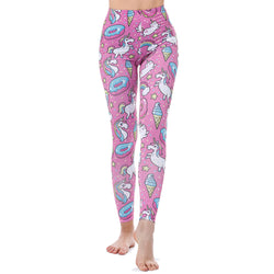 Donuts, Rainbows, and Unicorns leggings - Cool Printed Leggings