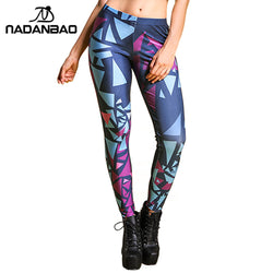 Abstract Triangles leggings - Cool Printed Leggings