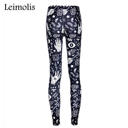 Punk Rock leggings - Cool Printed Leggings