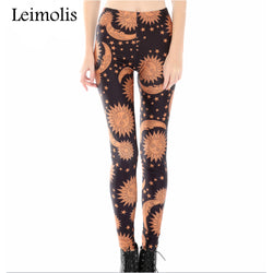 Sun, Moon, and Space leggings - Cool Printed Leggings