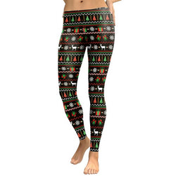 Ugly Christmas leggings - Cool Printed Leggings