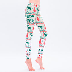 Merry Christmas Trees leggings - Cool Printed Leggings