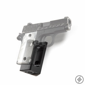 Wall Mount for Kimber Micro 9 Pistol, Transparent, Right, Spartan Mounts