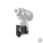 Wall Mount for BOSCH 12V Power Tools , Left, Transparent, Spartan Mounts Power Tool Display