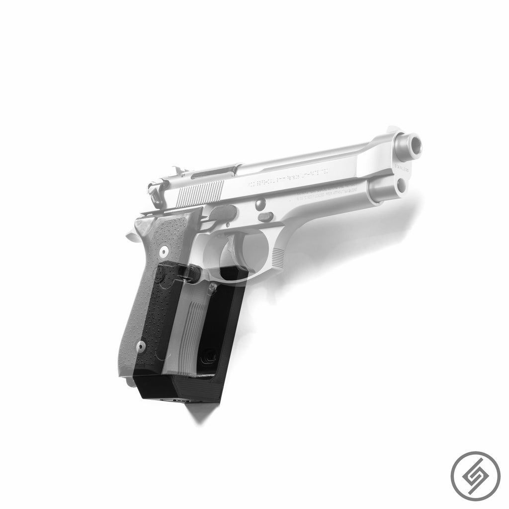 BERETTA 92fs Wall Mount, Right, Transparent, Spartan Mounts Pistol Display