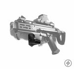 CZ Scorpion EVO 3 Wall Mount, Left, Transparent, Spartan Mounts Rifle Display