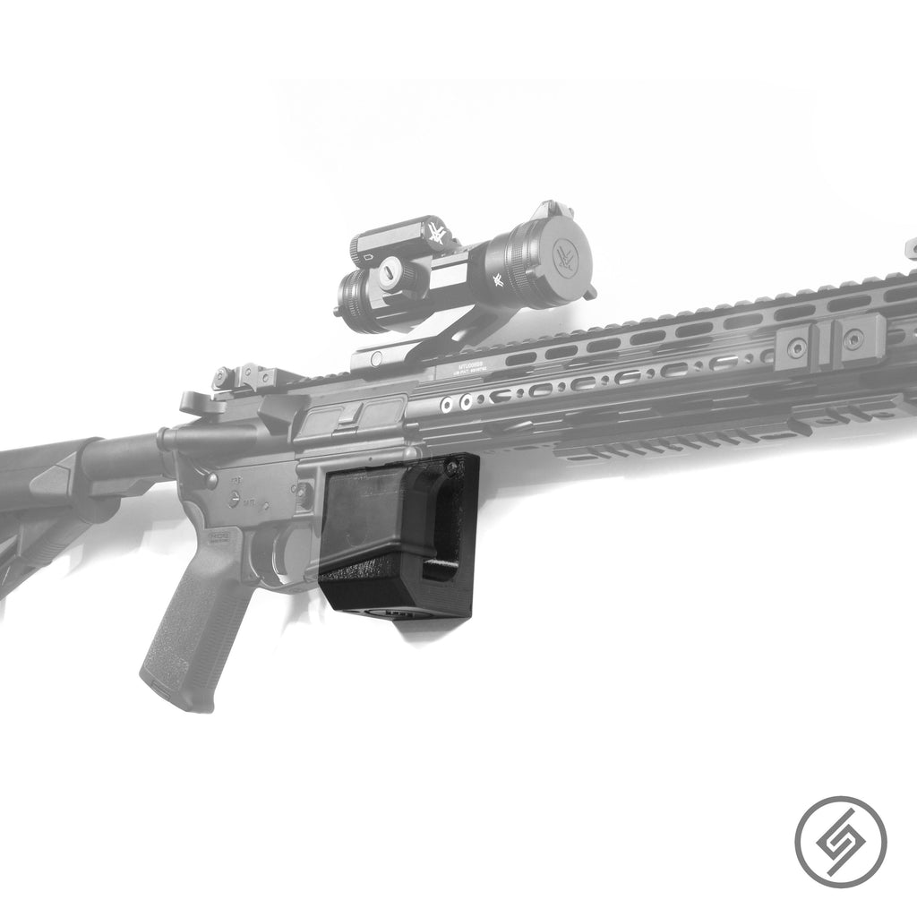AR-15 Wall Mount, Transparent, Right Facing Rifle Display Spartan Mounts