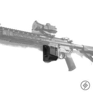 AR-15 California Edition Wall Mount, Left, Transparent, Spartan Mounts Rifle Display