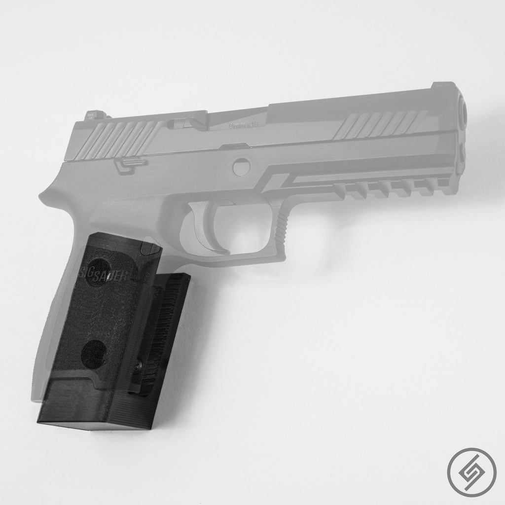 Sig P320 Wall Mount, Right, Transparent, Spartan Mounts