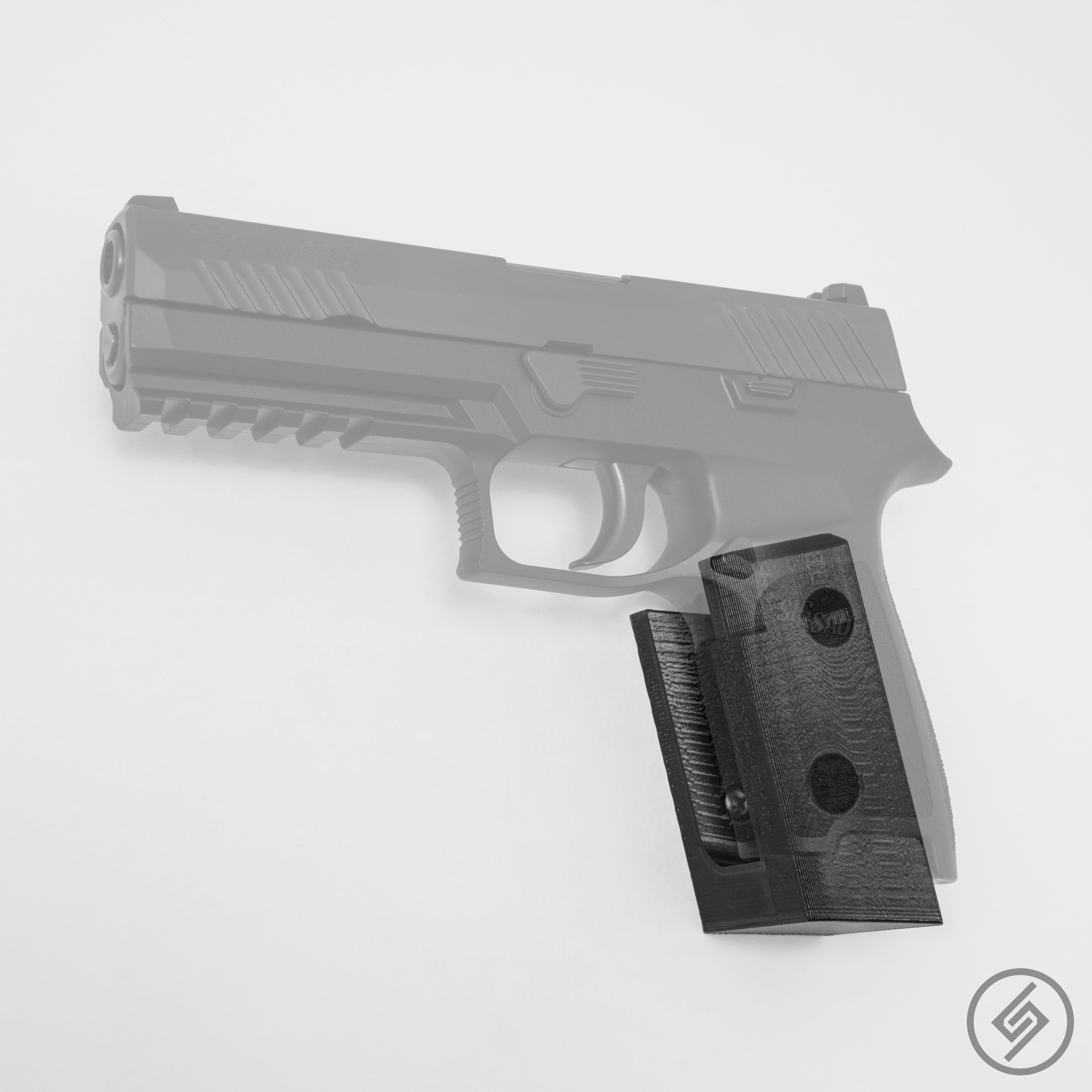 Sig P320 Wall Mount, Left, Transparent, Spartan Mounts