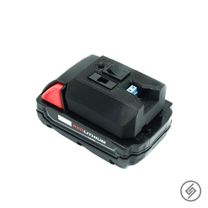 Adapter for all Milwaukee M18 Batteries, Spartan Mounts