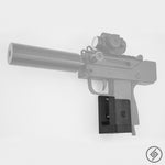MAC-10 Wall Mount, Left, Transparent, Spartan Mounts