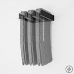 PMAG AR-15 3x Magazine Wall Mount, Transparent, Spartan Mounts