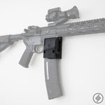 AR-15 + PMAG Wall Mount, Right, Transparent, Spartan Mounts