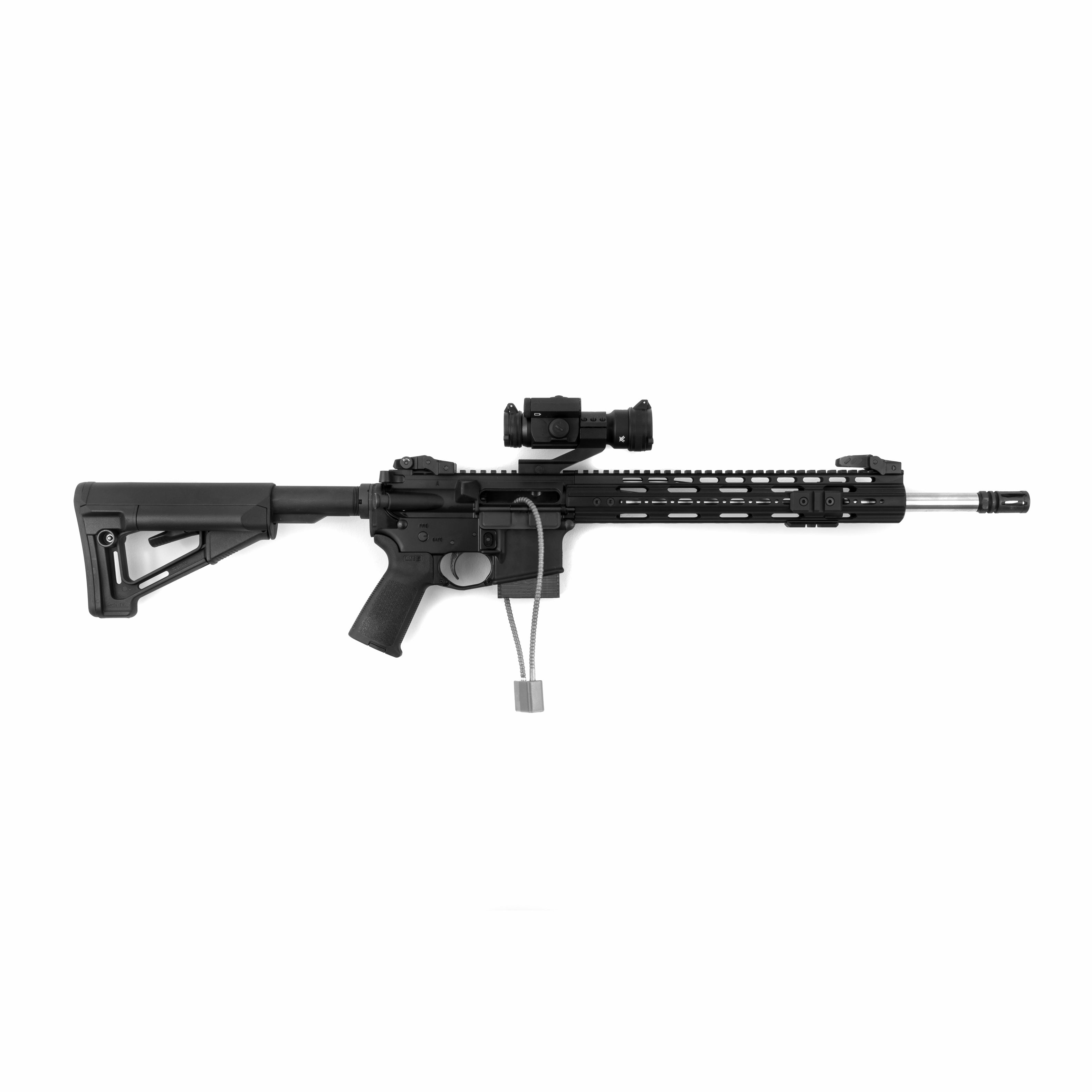 AR-15 California Edition Spartan Mounts Wall Mount Pointing Right