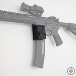 AR-15 + PMAG California Wall Mount, Left, Transparent, Spartan Mounts