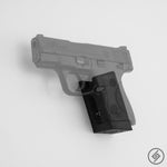 Shield 9mm Wall Mount, Left, Transparent, Spartan Mounts