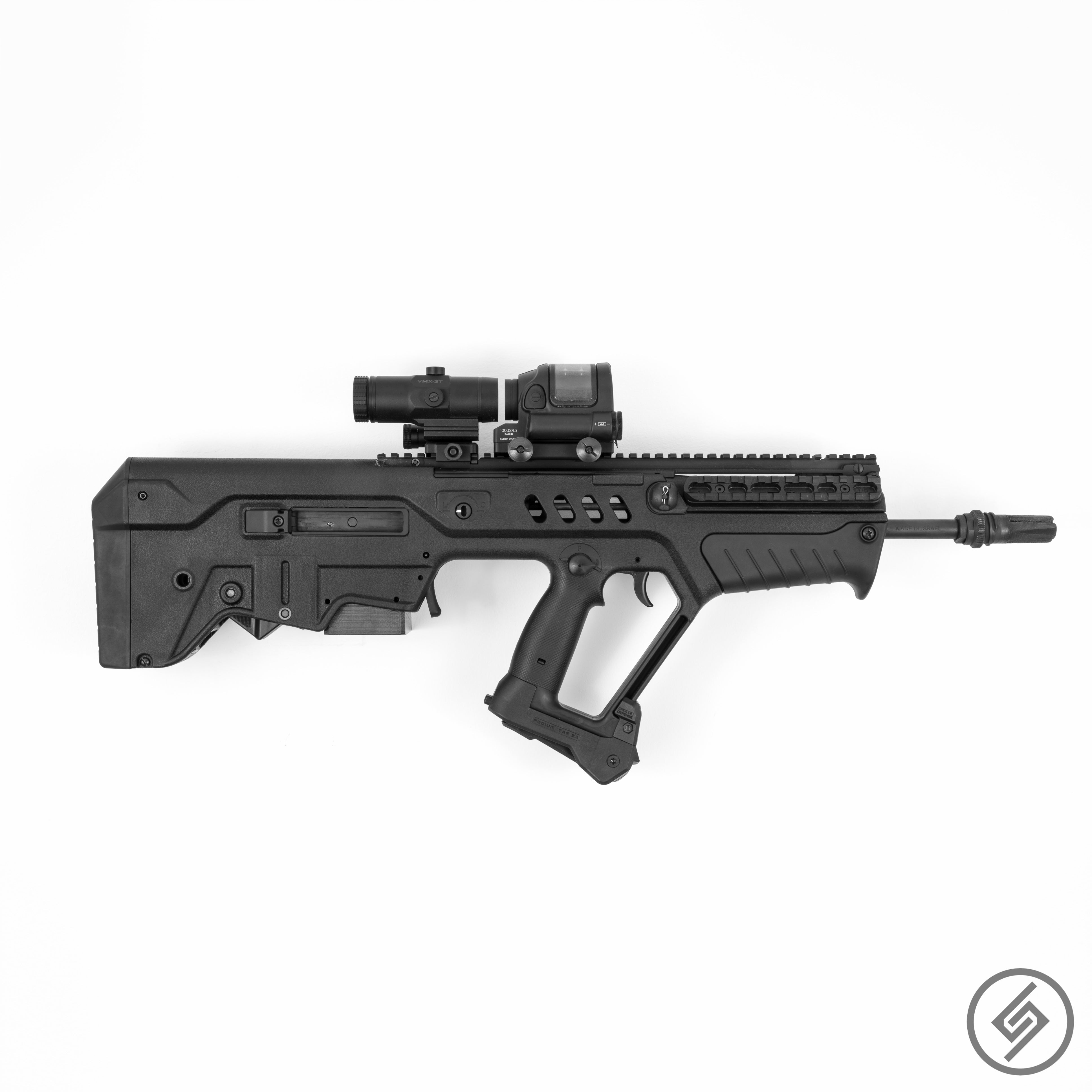 TAVOR Wall Mount, Right, Transparent, Spartan Mounts